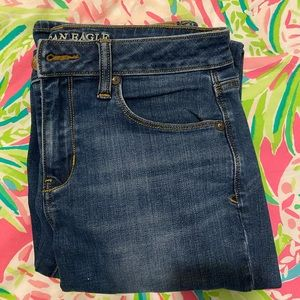American Eagle Dark Wash Skinny Kick Jean